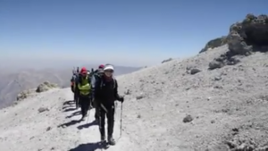 OMID Girls climb to the peak of Mount Damavand