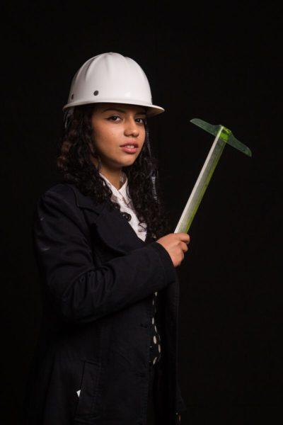 Sahar Hashemi holding a T-square